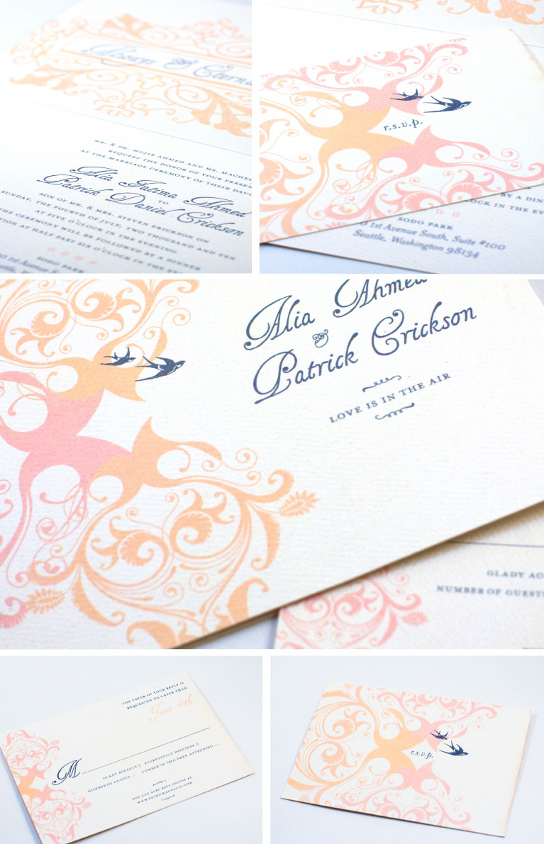 Portland, Oregon Graphic Designer, Portland Custom Wedding Invitations, Henna Inspired Wedding Invitations, Flora Fauna Designs, Jessica Kirkpatrick, Web Design, Print Design, Identity Design, Stationery Design